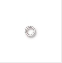 Round Jump Ring 20 Gauge 4mm Inside Diameter - Qty 50 - TierraCast Silver Plated Brass