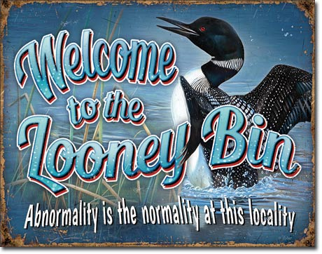 Welcome to the Looney Bin - Funny Welcome Sign - Made in the USA