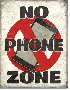 No Phone Zone - Cell Phone Sign - Made in the USA