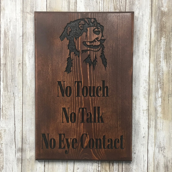 Dog Rules for Training Sign - Carved Pine Wood