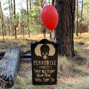 Pennywise IT Horror Movie Tombstone - Yard Ornament Grave Head Stone Tomb Halloween Decoration