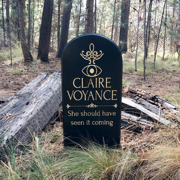 Claire Voyance Yard Ornament Grave Head Stone Tomb Halloween Decoration