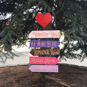 Valentine's Day Yard Decoration - Choose Locations - Engraved Cedar Wood