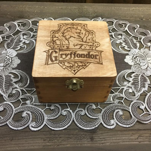 House Box - Stash Jewelry Treasure Wooden Box - Laser Engraved Hexagon