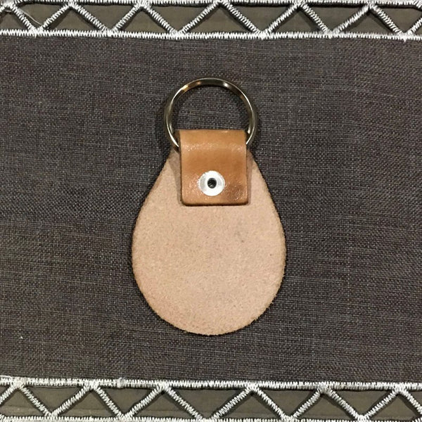 Bend Grateful Dead Style Leather Key Chain Fob - Laser Engraved Leather