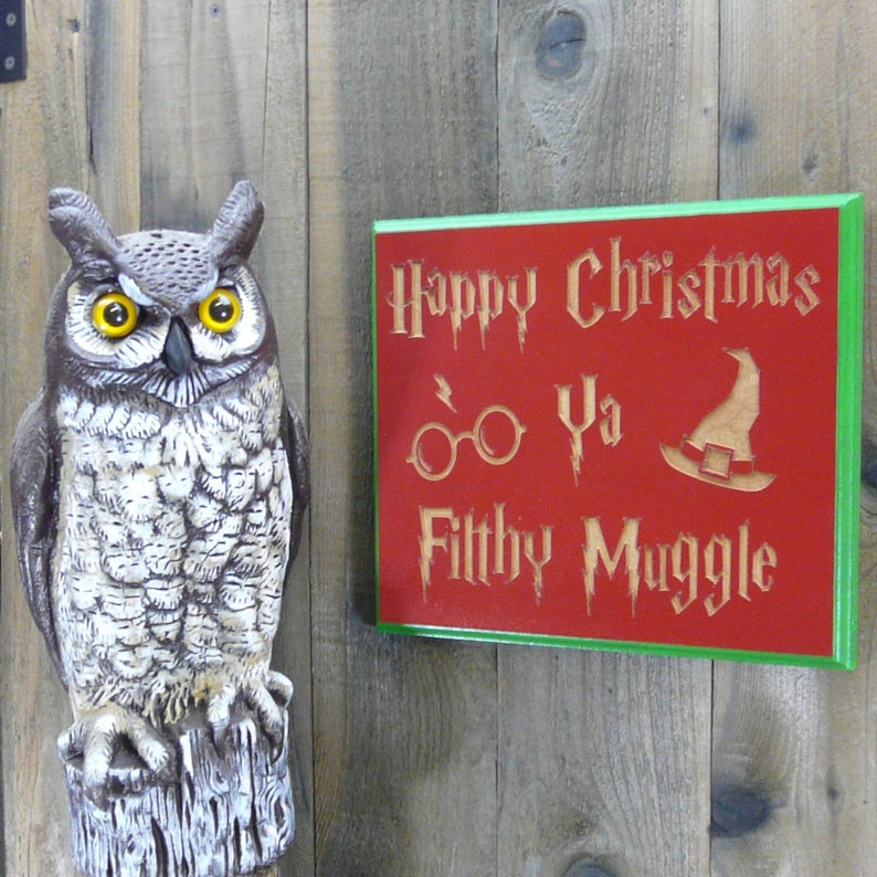 Christmas Sign - MDF Carved Wood