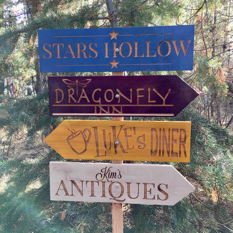 Gilmore Girls Stars Hollow - Choose your own locations - Directional Signs