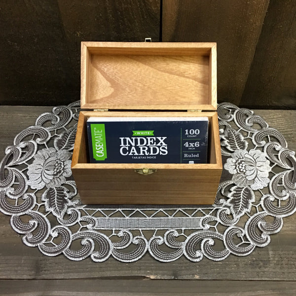 Beer Recipe Box - Home Brew Craft Homebrew Laser Engraved Wood Box