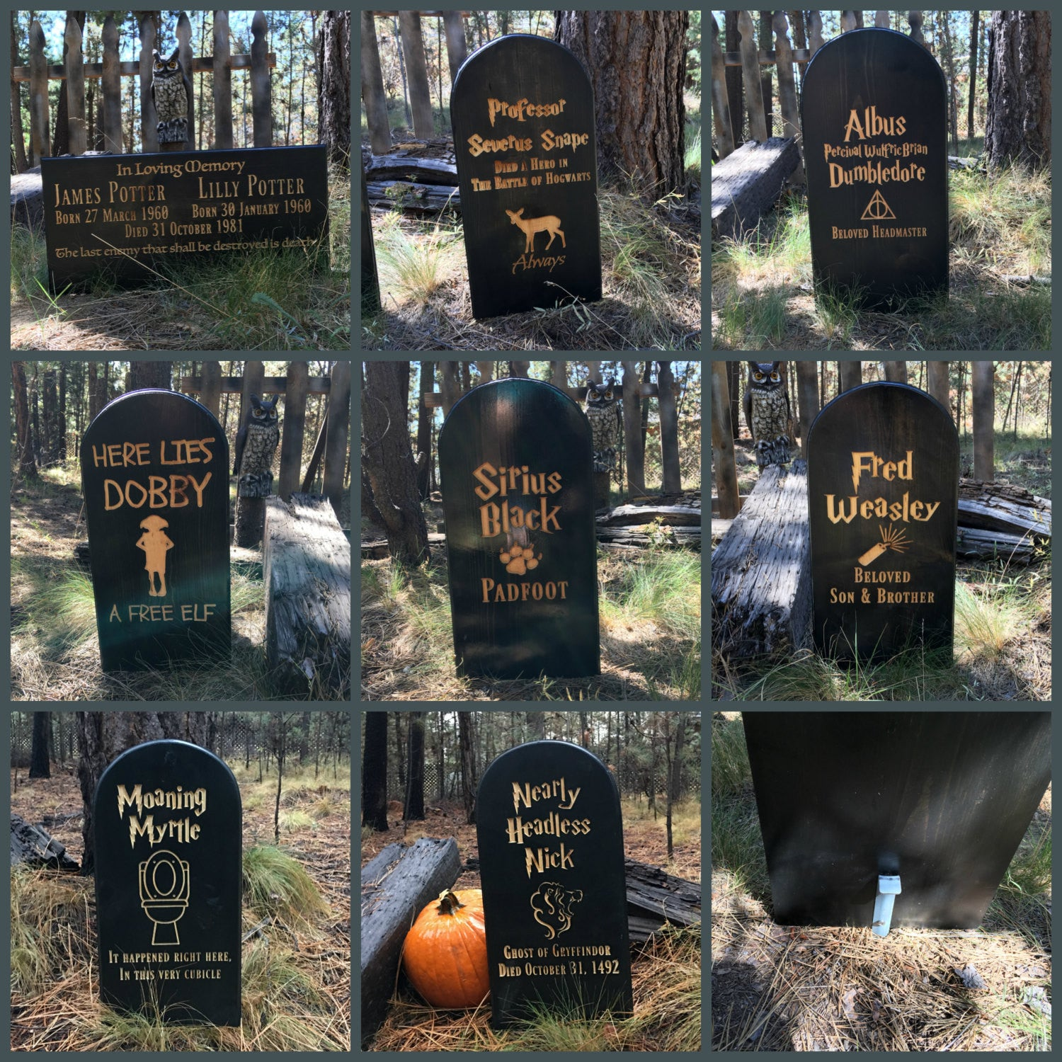 Lawn Yard Ornament Grave Head Stone Tomb Halloween Decoration Holiday