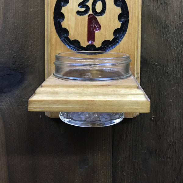 It's Beer 30 Bottle Opener with Cap Catcher Wall Mounted - Engraved Pine Wood