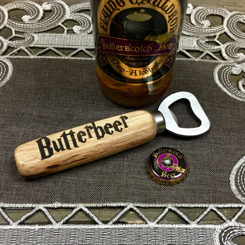 Wooden Handle Soda Glass Bottle Cap Opener