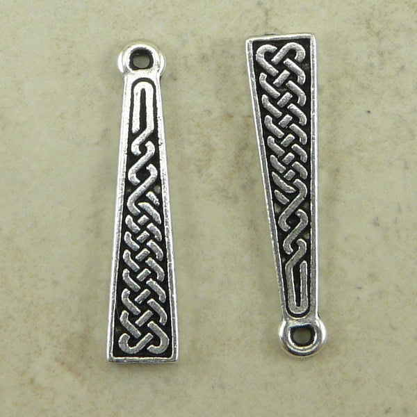 Celtic Braid charm - Qty 2 Charms - TierraCast Silver Plated Lead Free Pewter