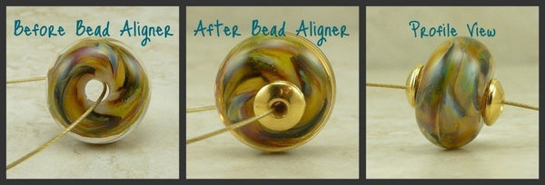 6mm Classic Bead Aligner Bead Caps - Qty 20 - TierraCast 22kt Gold Plated Lead Free Pewter