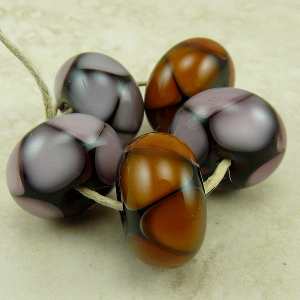Fall Berries - Lampwork Bead Set by Dragynsfyre Designs - SRA