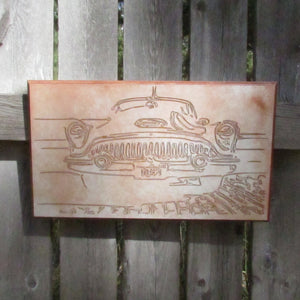 1953 Buick Roadmaster Classic Car Grill Wall Hanging Art - Man Cave Picture