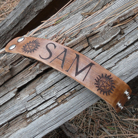 Supernatural Inspired Sam Winchester Leather Bracelet