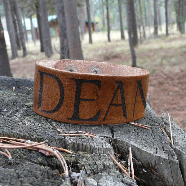 Supernatural Inspired Dean Winchester Leather Bracelet - Adjustable Double Snap
