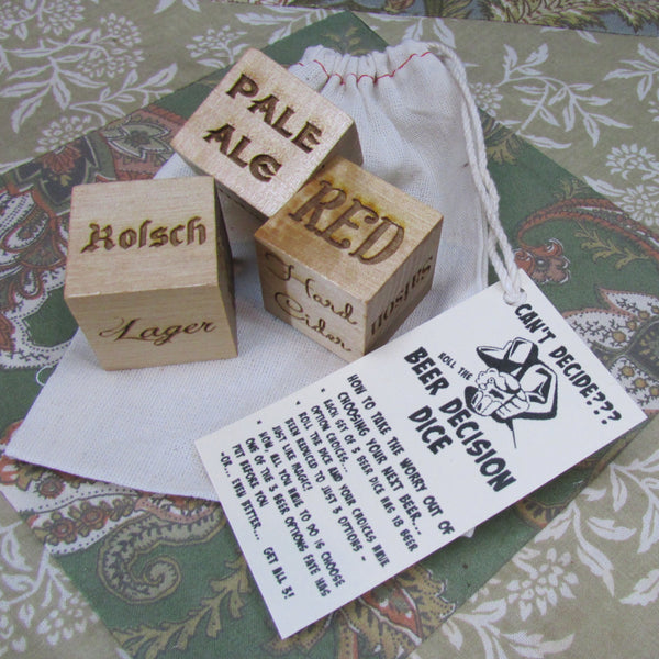 Beer Decision Dice - Craft Brew First World Problem Solver
