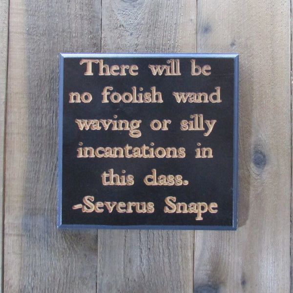 Foolish Quote Sign - Decoration Black Charcoal Painted Carved Wood