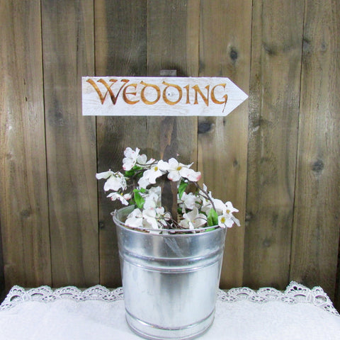 Wedding Ceremony Directional Lawn Ornament Sign