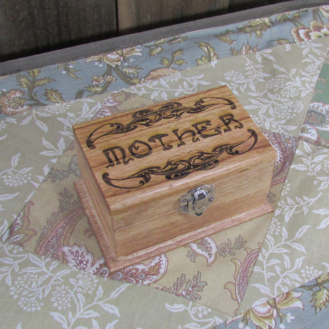 Mother Keepsake Jewelry Box - Laser Engraved Wood Box Customize Personalize