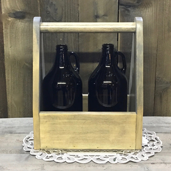 Snow Brew Skiier Ski Beer Carrier - As Shown Holds 2 64oz Growler Bottles - Other Sizes Available