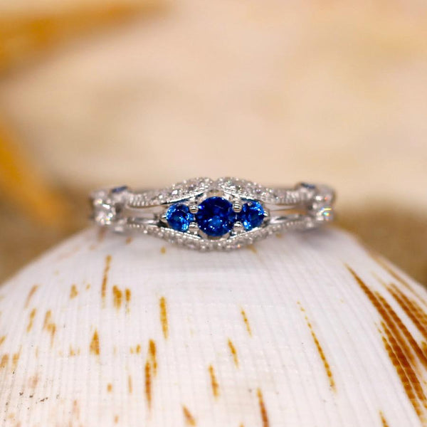 Eminence - Sterling Silver Ring with Blue Spinal CZ
