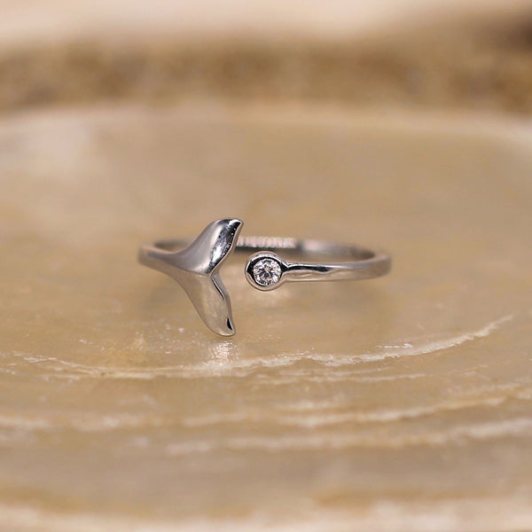 Ocean Spirit - Sterling Silver Ring With Clear CZ's