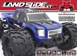 Bundle Deal - Landslide XTe Truck 1/8 Scale Brushless Electric with 2 LiPo Batteries, Fast Charge, and 8 AA Batteries.