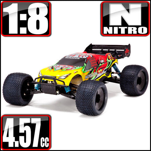 Monsoon XTR Truggy 1/8 Scale Nitro (With 2.4GHz Remote Control)