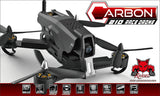 Bundle Deal - Carbon 210 Race Drone RTF with aluminum case, extra LiPo battery, extra propellers, and 4 AA batteries.