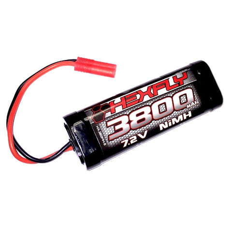 Hexfly 3800mAh 7.2V  Ni-MH Battery with Banana 4.0 Connector