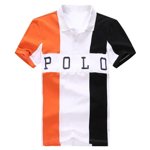 2020 summer Fashion casual Homme Polo short sleeve Men Polo stretch cotton breathable sweat absorption FACONNABLE big size