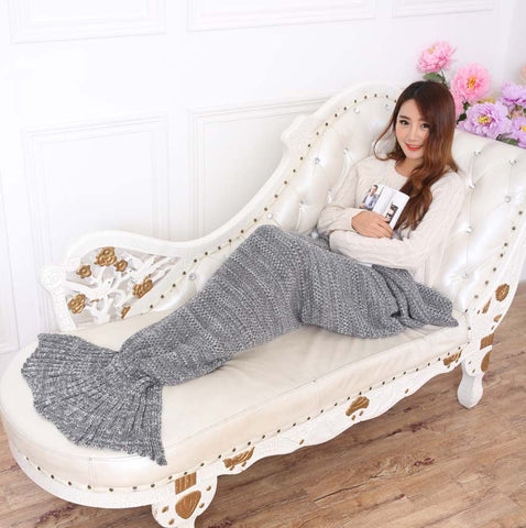Knitted Mermaid Tail Blanket - WFimports