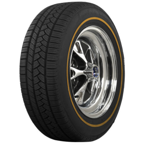 Coker P235/55R17 American Classic Goldline Tire - Rim/Trim/Cap Not Included