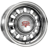 "14X6 68-69 Styled Steel 4X4.25/4.5 4"" Back Space Black Outer Rim Coker"