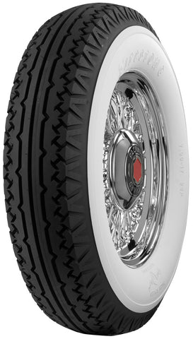 "Coker 700-17 Firestone 4 1/4"" Wide Whitewall (Balloon) Bias Tire - Tire Only"