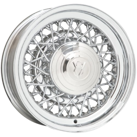Coker 16X6 Hr Wire Chrome Wheel 5X5.5