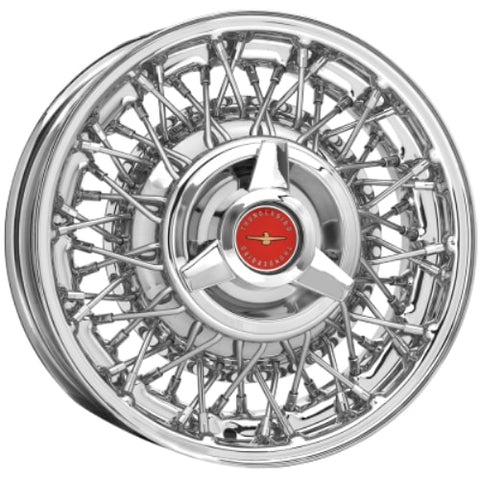 Coker 15X6 Thunderbird Wire Wheel 65-67 Front Only