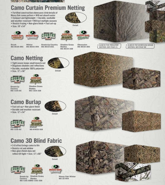 CAMO NETTING & BLINDS