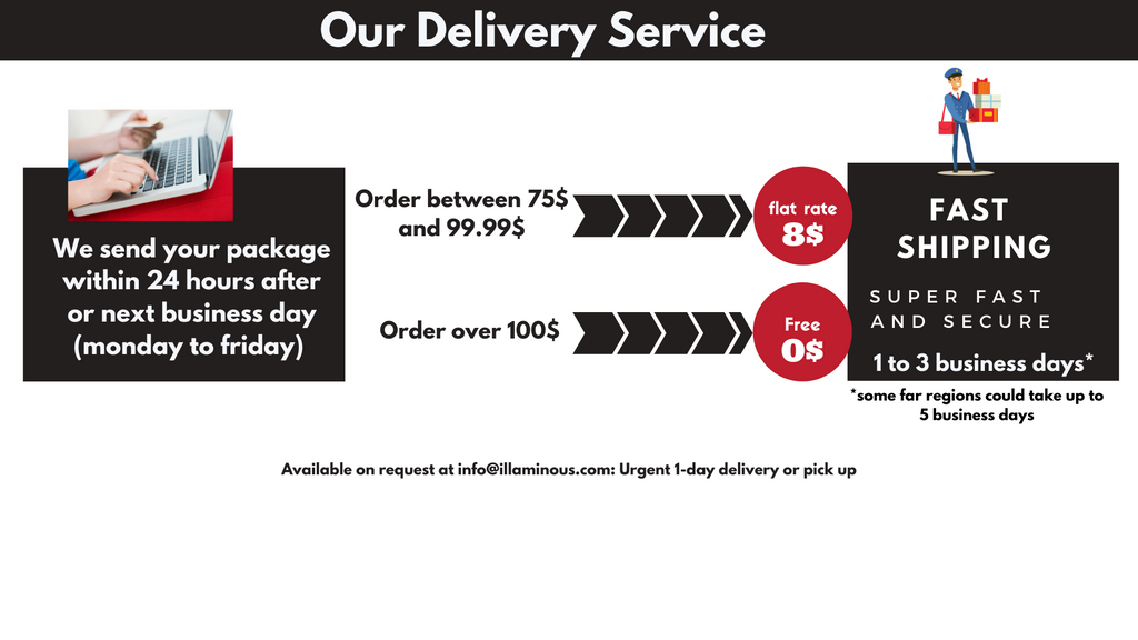 illaminous shipping service cost