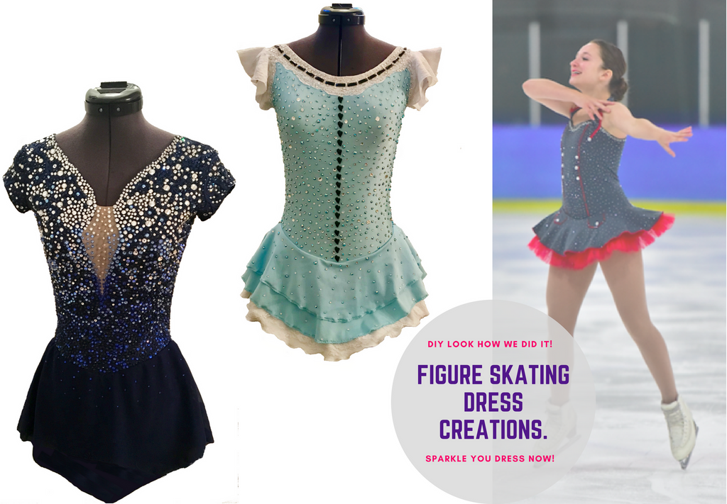 Rhinestones | Creations | Figure Skating Dress | Audrey-Ann Carpentier | Crystals