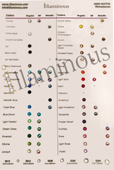 Hotfix rhinestones Crystals | Colors Chart | illaminous