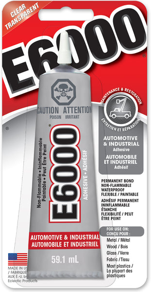 E6000® Industrial & Automotive Adhesive Clear 59.1 ml