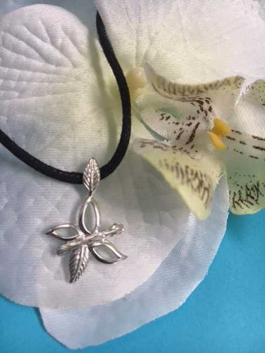 Sterling Silver Grace Butterfly Pendant on Black Cord