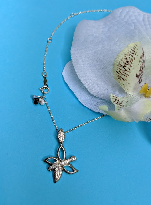 Sterling Silver Grace Butterfly Pendant on Adjustable Chain