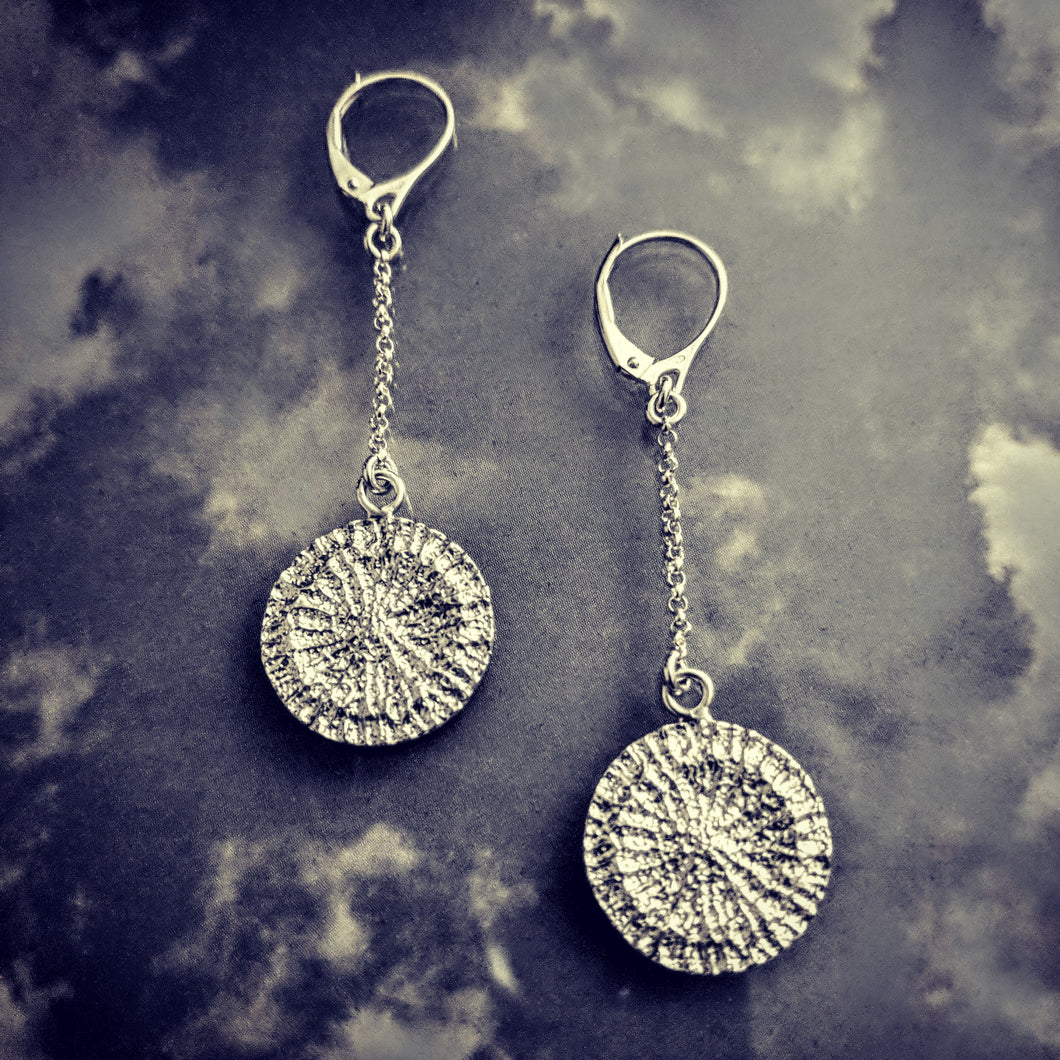 Mini Strength Shark Disc Drop Earrings