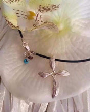 Sterling Silver Dove Feather Cross on Leather Cord