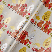 Christmas Bear Flat Wrapping Paper