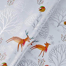 Christmas Deer Flat Wrapping Paper